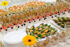 Buffet table Royalty Free Stock Images