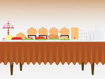Buffet table. Royalty Free Stock Images