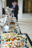 Buffet table with salads Stock Image