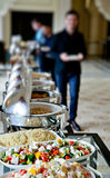Buffet table with salads Royalty Free Stock Images