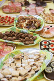 Buffet table with sweets and candy Stock Photo