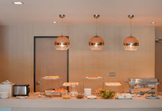 Buffet Table for waiting for guests. Royalty Free Stock Photography