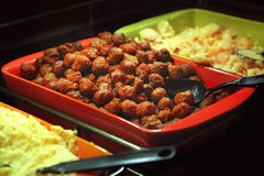 Buffet trays Stock Photo