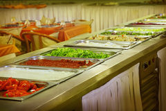 Buffet trays Royalty Free Stock Photo