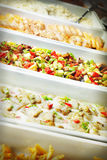 Buffet trays Royalty Free Stock Images