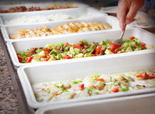 Buffet trays Royalty Free Stock Image