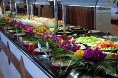 Buffet tropical Photo stock