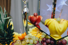 Buffet with tropical fruit Royalty Free Stock Images