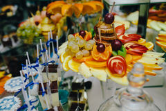Buffet with tropical fruit Royalty Free Stock Image