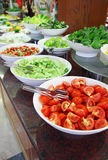Buffet, vegetables. At restaurant on a counter Royalty Free Stock Images