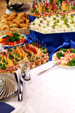 Buffet With Snacks At Presentation 3 Stock Photography