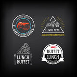 Buffetmenü, Restaurantdesign Alle, die Sie essen können Vektor mit grap Lizenzfreie Stockfotografie