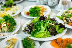 Buffets, appetizers, wedding table Royalty Free Stock Image