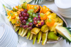 Buffets, appetizers, wedding table Stock Photos