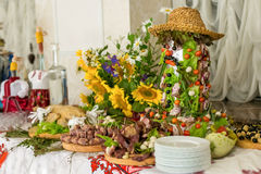 Buffets, appetizers, wedding table Stock Image