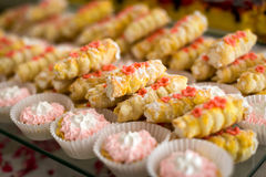 Buffets, appetizers, wedding table Stock Images