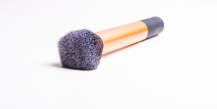 Buffing make-up brush. On white background. Ideal for application and blending of cream or liquid foundation Stock Images