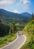Bufflar på den lantliga vägen i Sapa, Vietnam Royaltyfri Foto