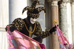 buffon μάσκα Βενετία καρναβαλ&io Στοκ Εικόνα