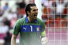 Buffon. Gianluigi Buffon during European Championship Euro 2012  game between Italy and Spain in Gdansk Arena on 10th June 2012 Stock Photography