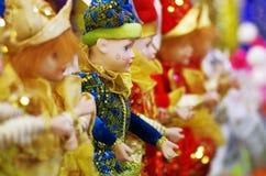 Buffoni delle bambole Fotografia Stock