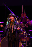 Buffy Sainte-Marie. Performing at NYC`s SummerStage in Central Park - 7/9/2017 Royalty Free Stock Images