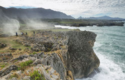 Bufones de Pria (blowholes) Royalty Free Stock Photography