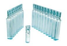 Bufus - gota plástica, ampola, tubo de ensaio, pulverizador Fotografia de Stock