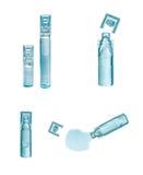 Bufus - gota plástica, ampola, tubo de ensaio, pulverizador Imagem de Stock