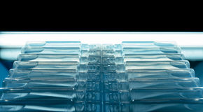 Bufus - gota plástica, ampola, tubo de ensaio, pulverizador Foto de Stock Royalty Free