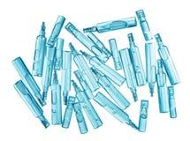 Bufus - gota plástica, ampola, tubo de ensaio, pulverizador Imagem de Stock Royalty Free