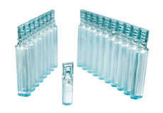 Bufus - plastic drop, ampoule, vial, spray. Bufus - plastic drop, ampoule, vial, spray the medicine . Cast resin sealed container filled with a liquid drug Stock Photography