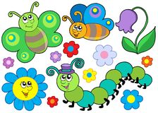 Free Bug And Flower Set Stock Photography - 7458152