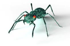 Bug di concetto di sicurezza di Digital isolato su bianco, illust 3D Immagini Stock Libere da Diritti