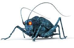 Bug di concetto di sicurezza di Digital isolato su bianco, illust 3D Fotografie Stock Libere da Diritti