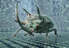 Bug di concetto di sicurezza di Digital nell'ambiente elettronico, Immagini Stock Libere da Diritti