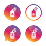 Bug disinfection sign icon. Fumigation symbol. Royalty Free Stock Image