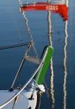 Bug eines Segelboots Lizenzfreie Stockbilder