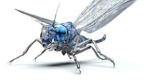 Bug elettronico di concetto di sicurezza di Digital isolato Fotografia Stock
