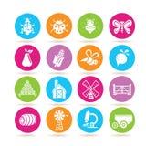 Bug and farm icons Royalty Free Stock Photos