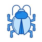 Bug fixing line icon. Stock Image