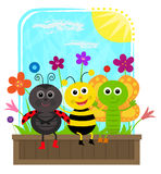 Bug Friends Royalty Free Stock Images