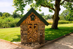 Bug hotel also known as a wildlife hotel or stack Royalty Free Stock Images