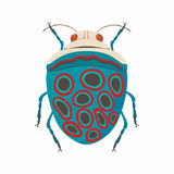 Bug icon, cartoon style. Bug icon in cartoon style isolated on white background vector illustration