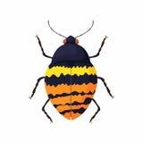 Bug icon, cartoon style Stock Image