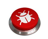 Bug Icon. 3D illustration of bug icon Stock Photos