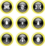 Bug icons stock illustration
