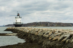 Bug Light. Lighthouse in South Portland, Maine Stock Image