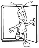 Bug and Open Door Royalty Free Stock Photo