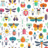 Bug Pattern Royalty Free Stock Photos